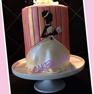 Wedding Dress Invitation cake