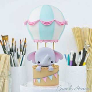 Cute Air Balloon Cake Topper