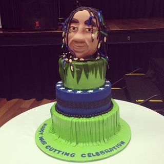 Hair cutting celebration cake