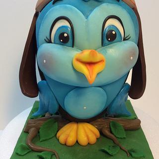 little blue bird for Easter