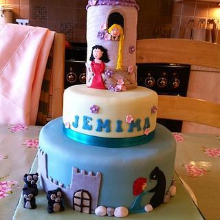 Disney princess cake - Merida and Rapunzel - Cake by Mummypuddleduck