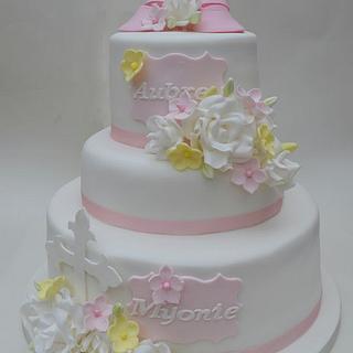 Pretty Christening Cake
