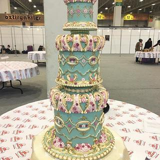 Wedding cake .Lambeth. Royal Icing