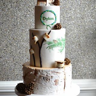 Adirondack inspired Bat Mitzvah cake - Cake by Elisabeth Palatiello