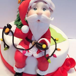 Santa And the Tree