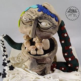 Cakerbuddies Pottery theme Collab : You 'n Me
