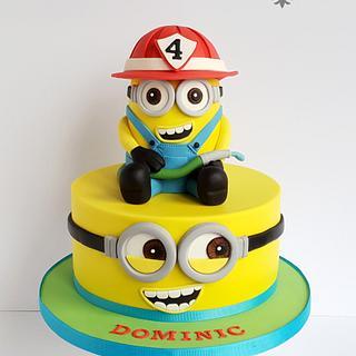 4th birthday Minion Cake
