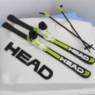 Winter cake for ski fans!