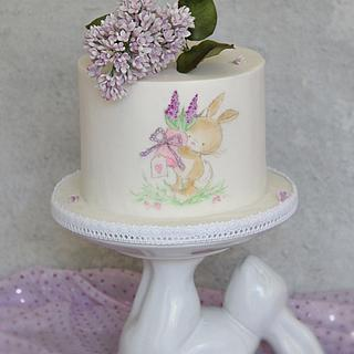 Handpainted bunny