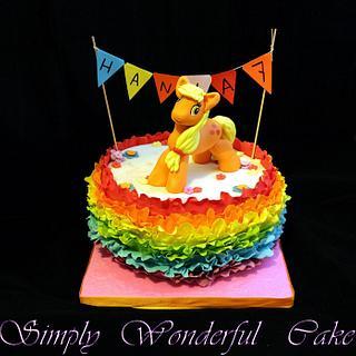 applejack on the rainbow