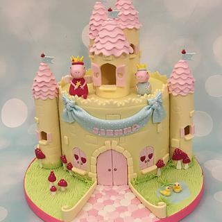 Peppa pig castle cake  - Cake by Shereen