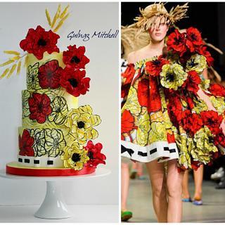 Viktor &Rolf fashion inspired cake