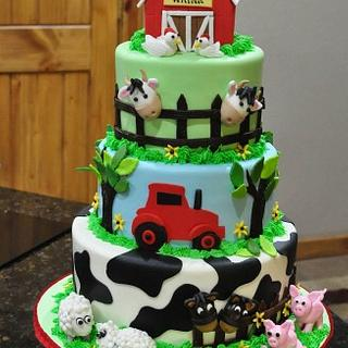 Life on the Farm - Cake by Cakes For Fun