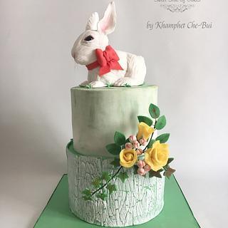 White Rabbit Birthday cake