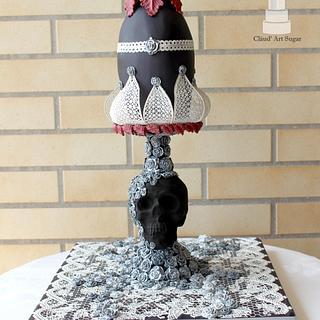 Gothic Faberge Egg - Bakerswood Challenge - Huevos De Pascua Estilo Faberge. - Cake by Cláud' Art Sugar