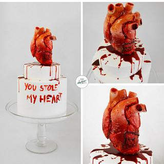 Anti-valentine's cake - Cake by TheCakeProjectCH