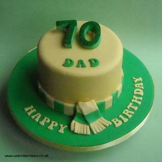 Norwich City '70th' Birthday Cake