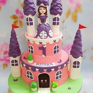 Wondrous Princess Sofia Birthday Cake 10 Cakes Cakesdecor Personalised Birthday Cards Arneslily Jamesorg