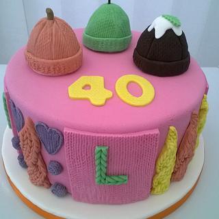 Funky Knit Birthday Cake
