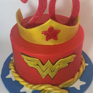 Wonder Woman Cake - Cake by givethemcake