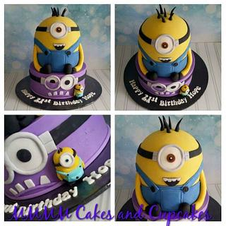 Minion 21st Birthday cake