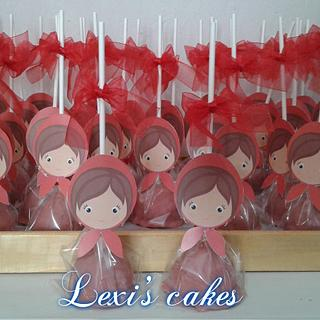 little red riding hood cake pops - Cake by alexialakki