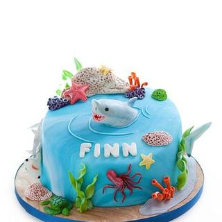 Shark Cake - Cake by Blushcakesco