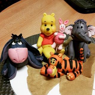 Whinnie Pooh Cake Fondant Figures