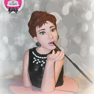 Audrey Heburn collaboration cake