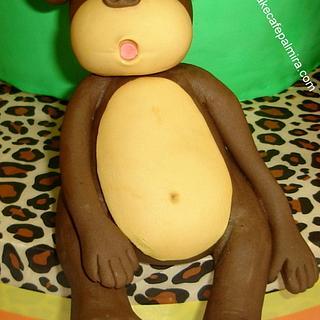 Monkey Topper Cake