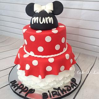 Minnie Mouse Mum Birthday Cake