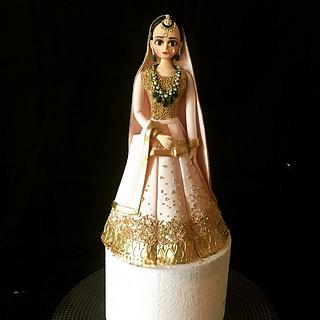 The Indian summer bride - Cake by The Hot Pink Cake Studio by Ipshita