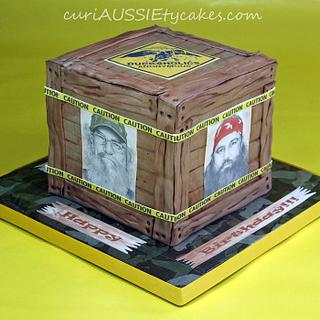 Duck Dynasty box crate cake - Cake by CuriAUSSIEty  Cakes