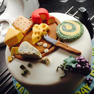 Cheese board cake.
