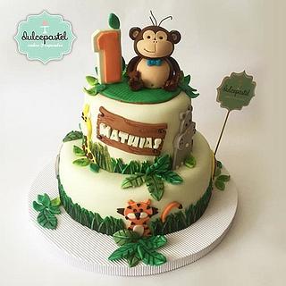 Safari Zoo Cake