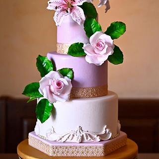Shimmer Rose Cake