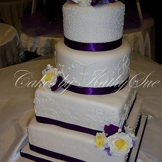 purple & yellow wedding