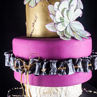 """Turkish-Russian"" Modern Wedding CAKE Collaboration|CLASH OF CONTRASTS"
