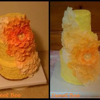 Cake disaster turned cake save...