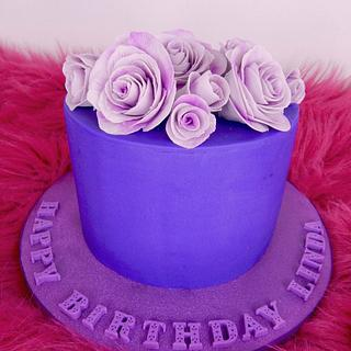 Passionately Purple - Cake by Sharon A./Not Your Average Cupcake