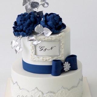 Blue Flowers Cake - Cake by Sihirli Pastane