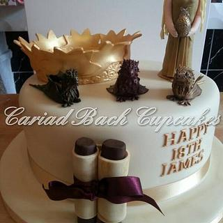 Game of Thrones 18th Birthday Cake