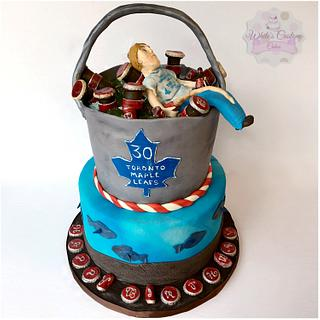 Beer and Fishing - Cake by Sabrina - White's Custom Cakes