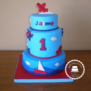 Jaime's 1st birthday cake - Cake by Gabriela Lopes (Bolos lindos de comer)