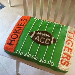 Hokies Cake - Cake by Bridget