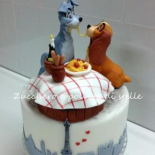 Lady and the Tramp - Cake by Zucchero e polvere di stelle