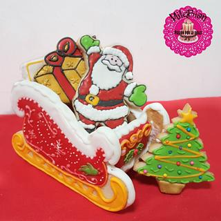 3D sleigh and Christmas Cookies