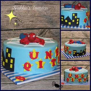 Spiderman - Cake by Sjakkie's Taarten