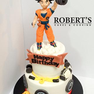 Dragon Ball Z Gym Cake