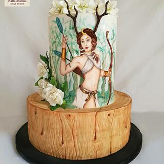 Goddess diana Cake